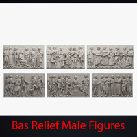 Bas Relief Male Figures