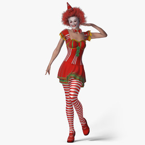 3d kristi clown girl - model