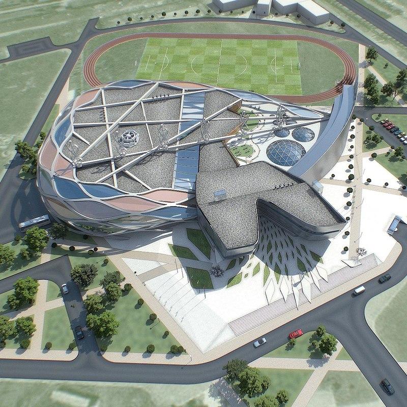 sport complex building exterior max