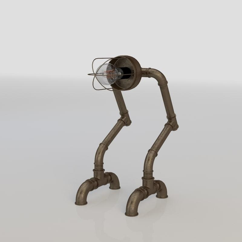 3d lamp industrial