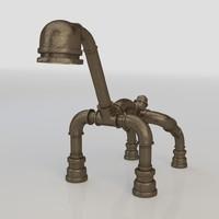 3d model of lamp industrial