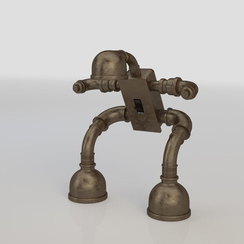 3d lamp industrial model
