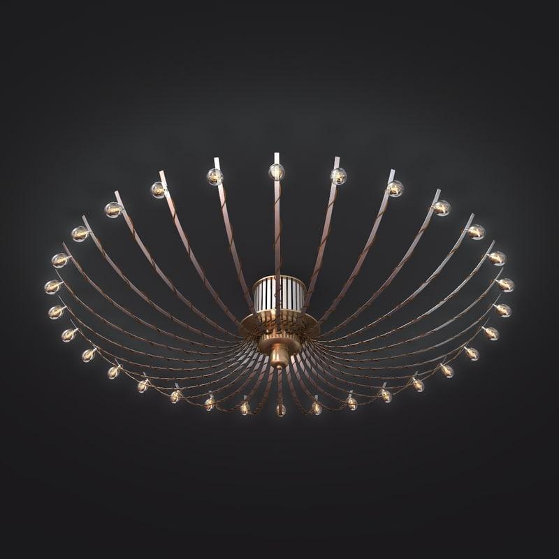 3d model of chandelier light lamp