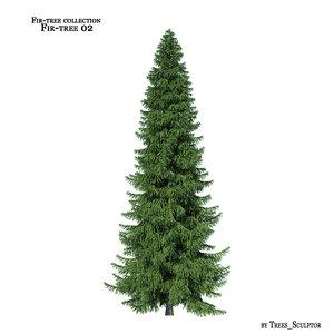 3d fir-tree tree