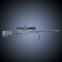3d pbr rifle scope model