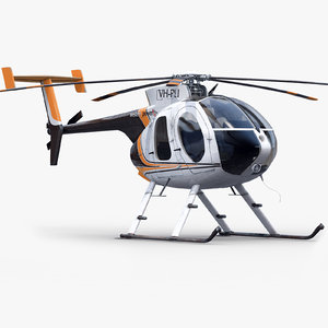 md private helicopter 3d model