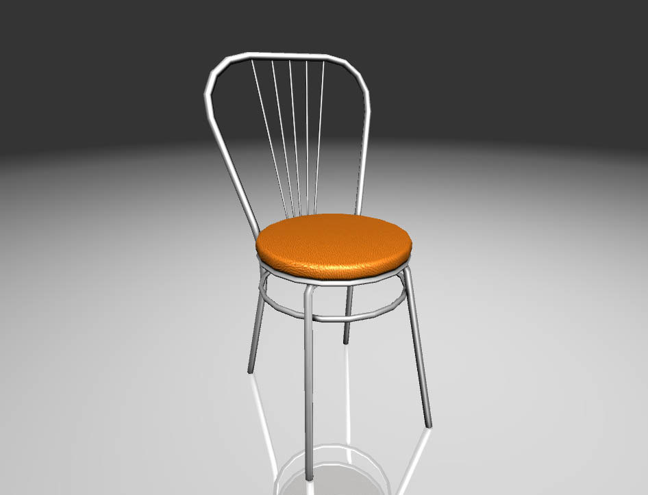 3d restaurant chair model