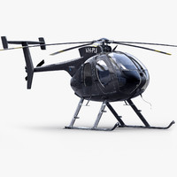 md 530e bussines helicopter 3d model