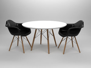 max eames table chairs