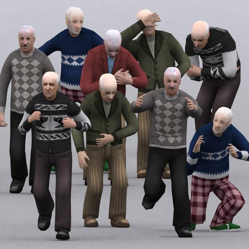 3d 3ds realpeople seniors -