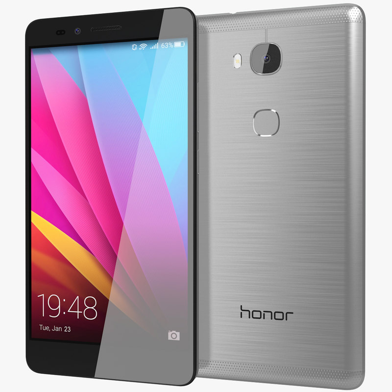 realistic huawei honor 5x 3d 3ds