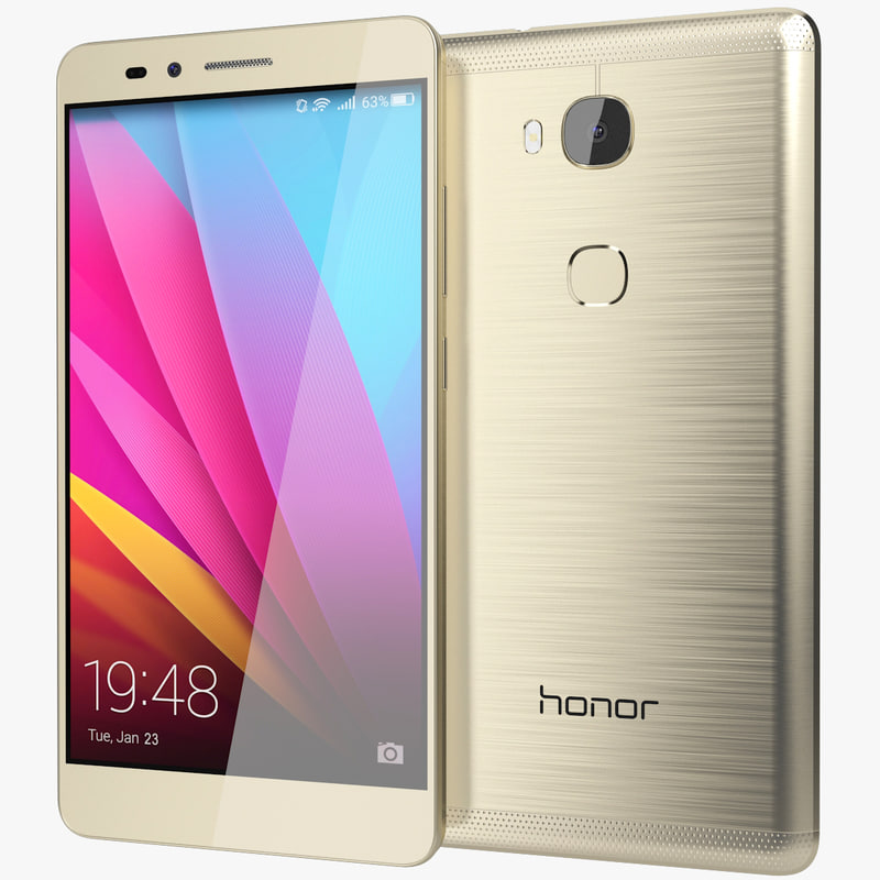 realistic huawei honor 5x 3d max