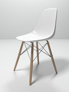 3d eames plastic chair model