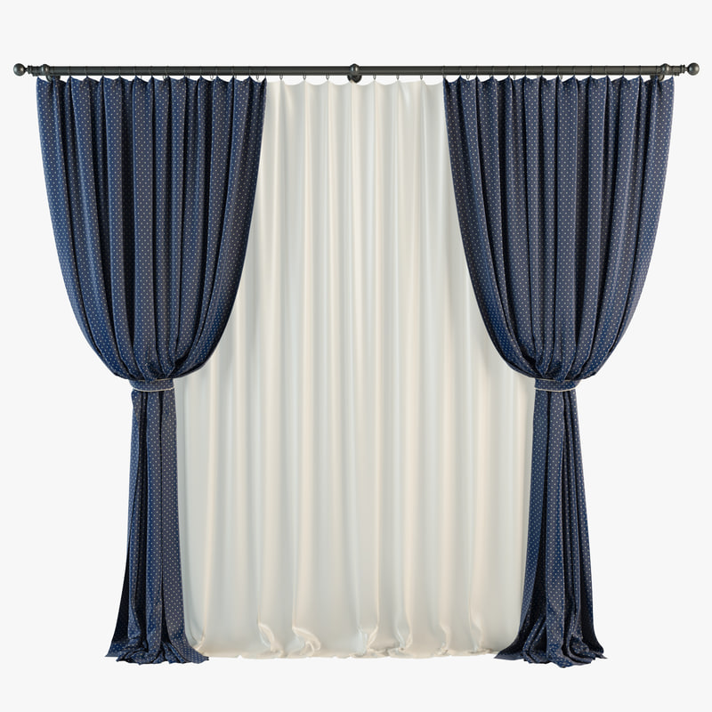 3d curtains tulle cornice