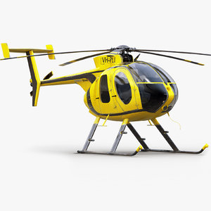 md helicopter 3d max