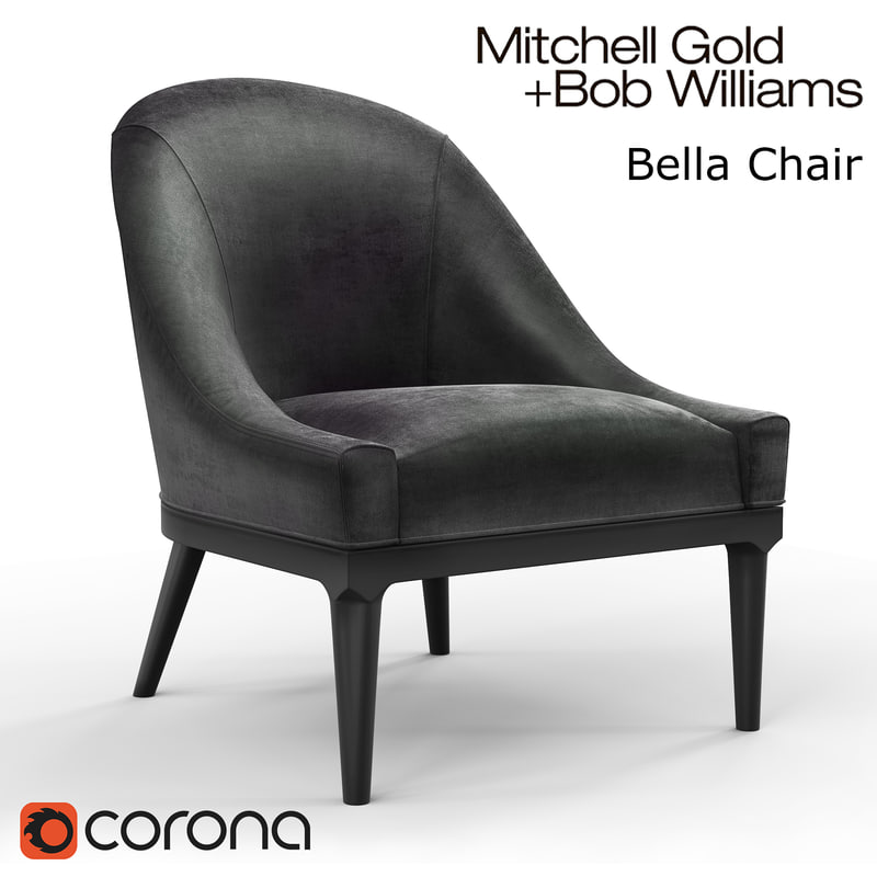 3d bella chair mitchell gold model
