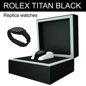 rolex titan black replica 3d model