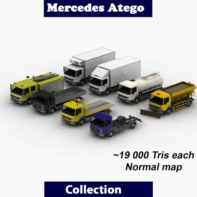 atego mercedes truck 3d model