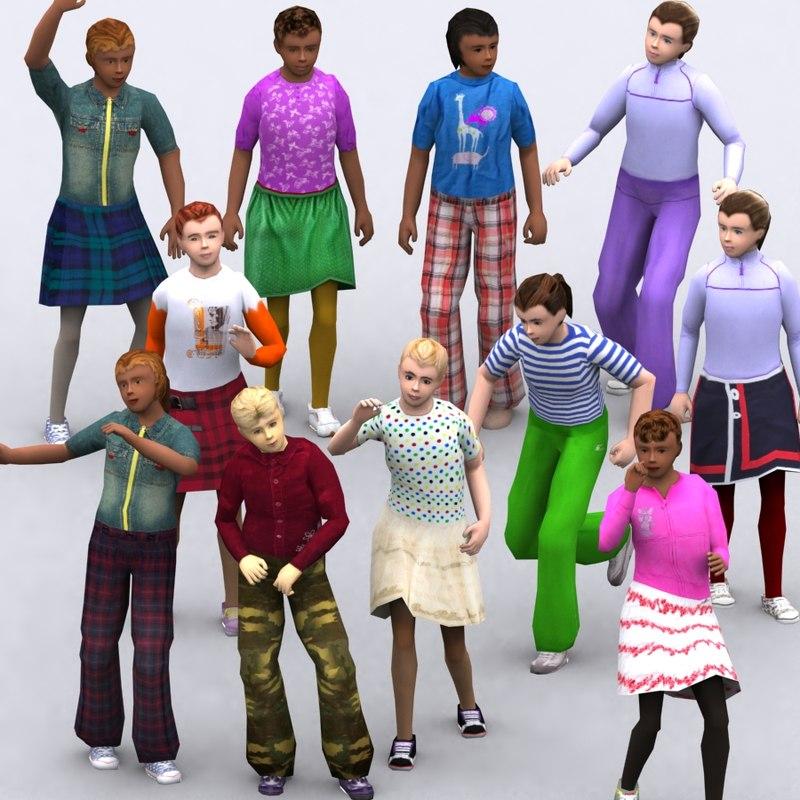 realpeople kids girls - 3ds