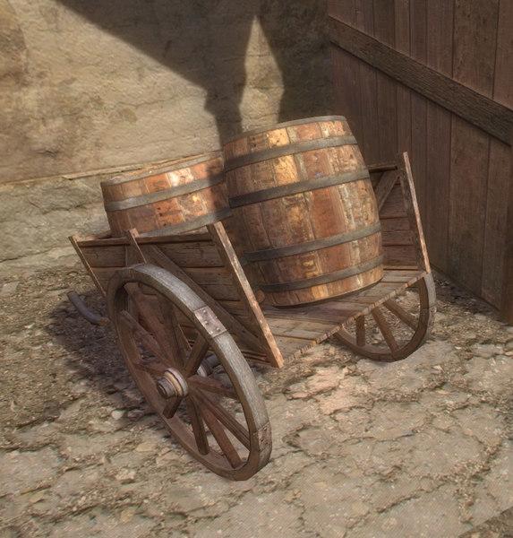 unity3d wagon wine barrel lwo