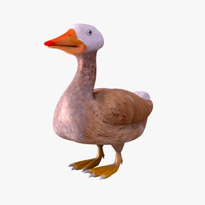 3d cartoon duck model