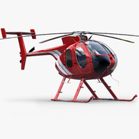 3d md helicopter model