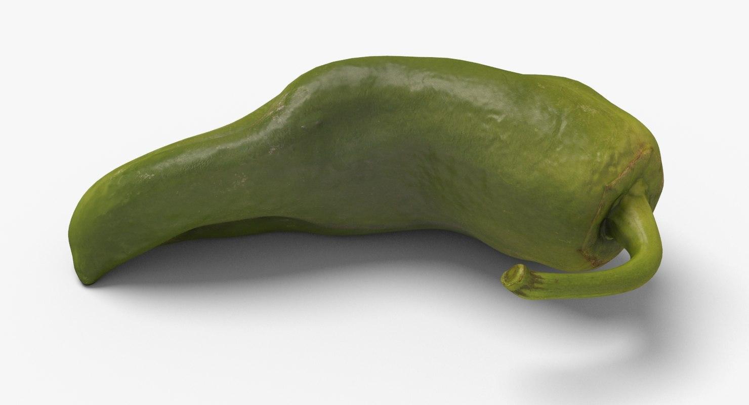 3d green pepper