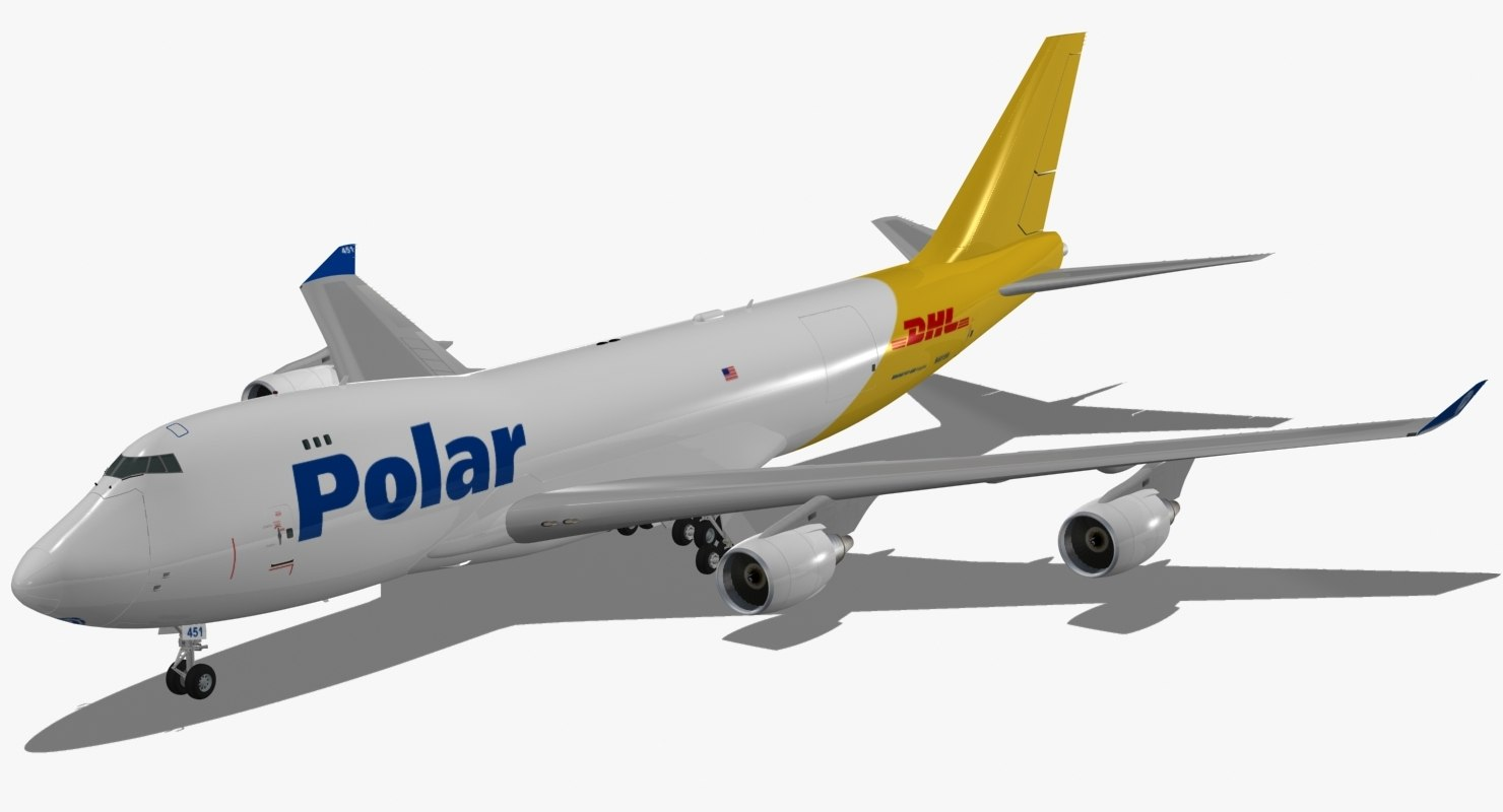 boeing 747-400 f polar 3d model