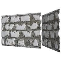 brick wall 3d 3ds