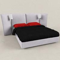 Bedcloth + Bed Ligne roset 01