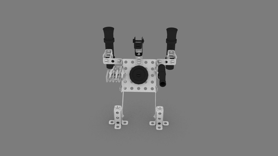 metall robot 3d model