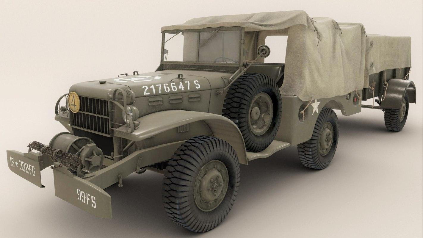 3d dodge truck wc 2 model - Wc model ...