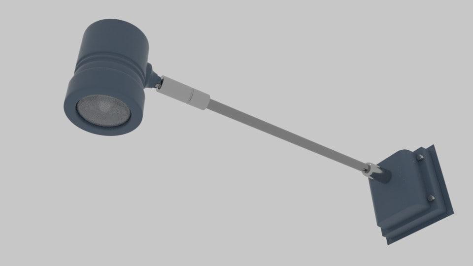 cylinder arm light 3ds