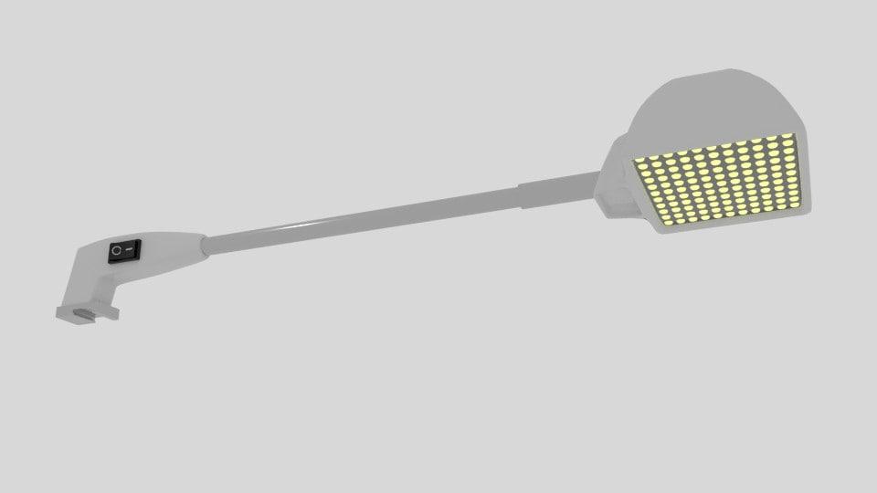3d model arm light