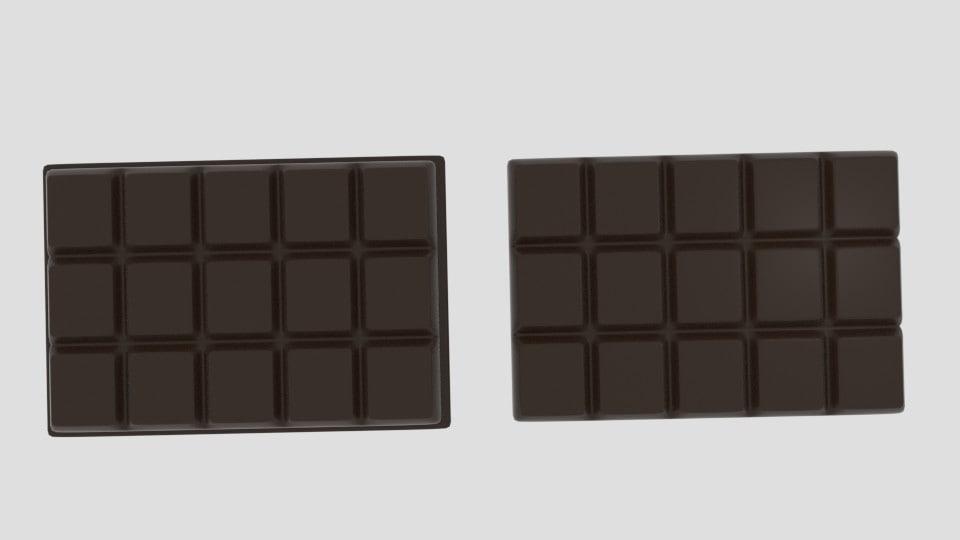 3d 3ds chocolate bar