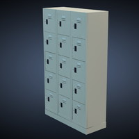 3d metal locker