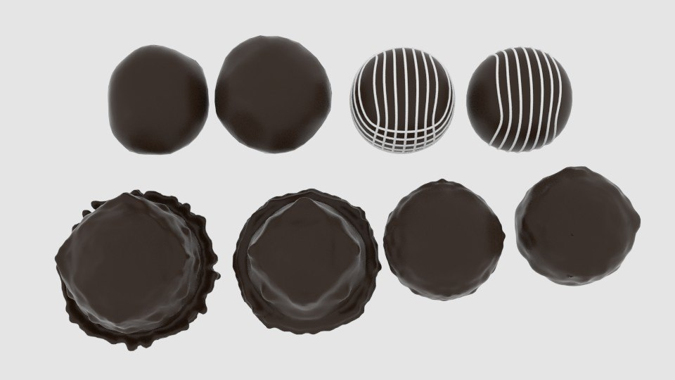 chocolate pack 3d model