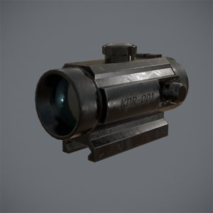 tactical holographic sight 3d model