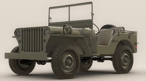 willys army jeep 3d obj