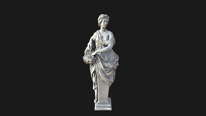spring statue 3d model