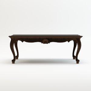 chelini sofa table art 3d model