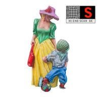 statue lunapark 8k 3d obj