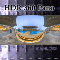 HDR 360 Pano Olympic Aquatic stadium03 Maria Lenk
