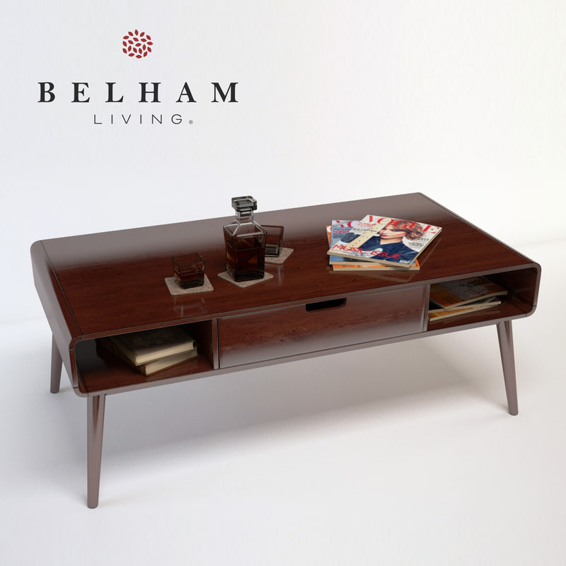Belham Living Carter Century D Model - Belham living carter mid century modern coffee table