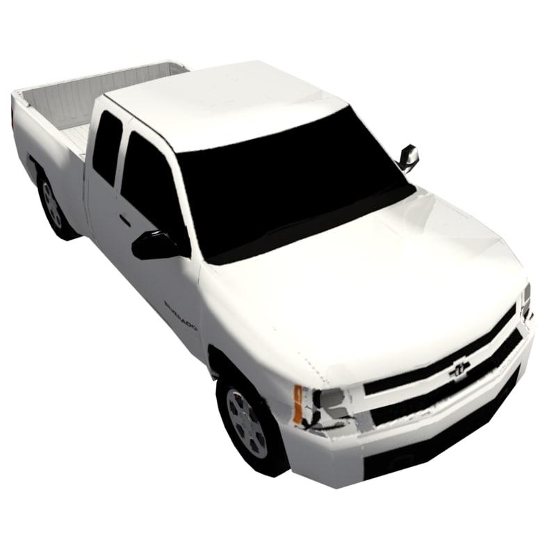 3d max 4x4 pickup truck