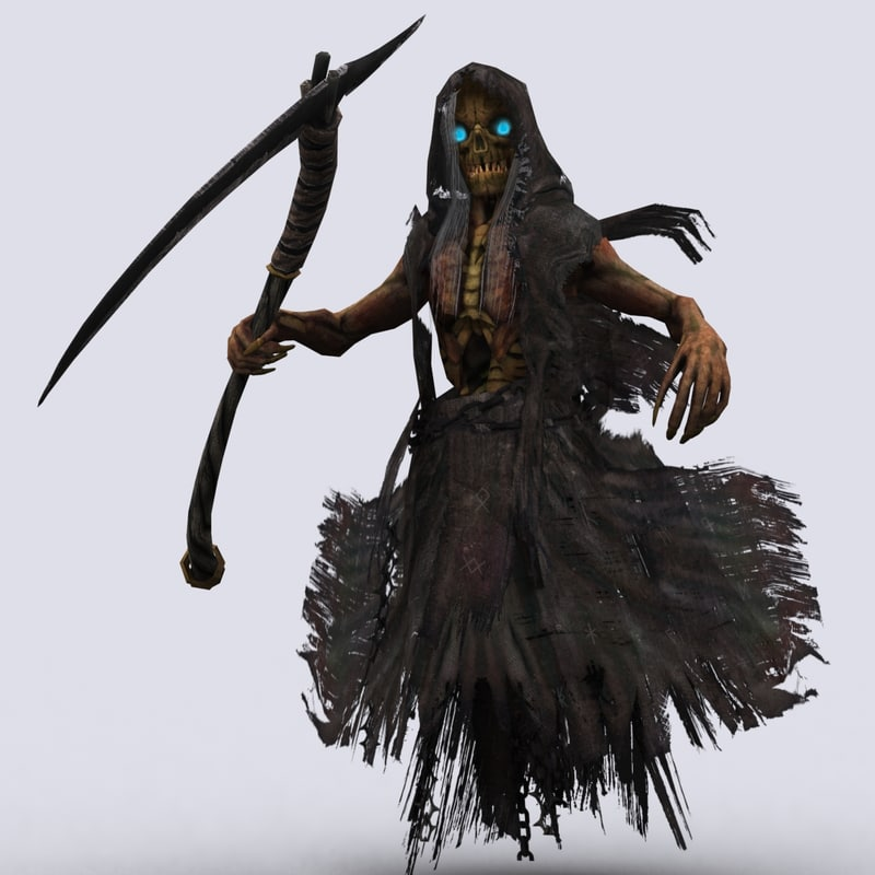 3d reaper scythe death model