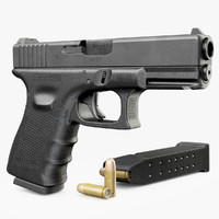 3d model gun glock 19 gen4