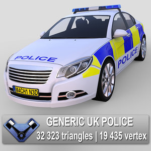 3d model generic police car majestic