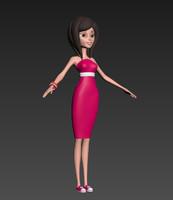 girl cartoon 3d max