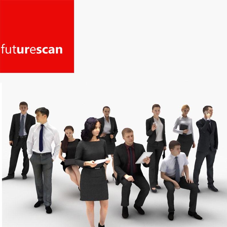 3d scan people businessman